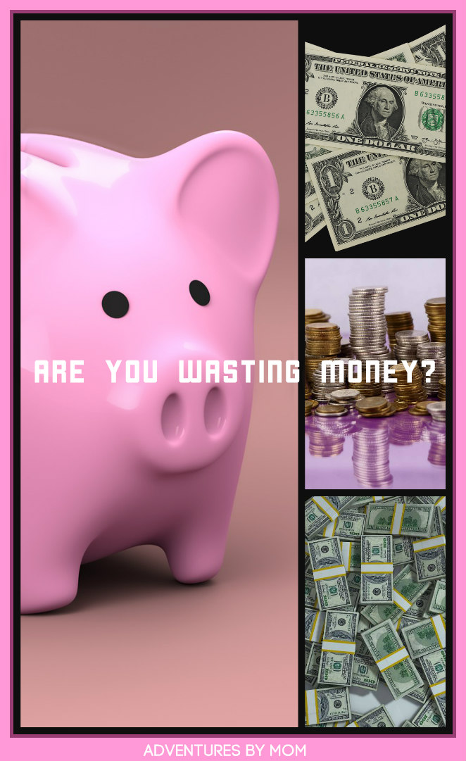 Are you wasting money? piggy bank cash