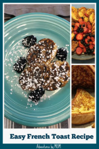 Simple french toast recipe on a plate