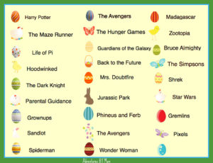 Easter Egg Hunt Movie Titles 2