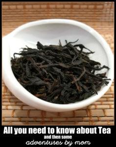 oolong tea leaves for a spot of tea.